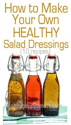 Clean Eating Salad Dressing Recipes – Simple Homemade Dressing Quick guide on how to make your own healthy homemade salad dressing recipes. Healthy ranch, cilantro lime, vinaigrette, spicy, sweet – all healthy and tasty Healthy Salads, Healthy Eating, Healthy Recipes, Healthy Salad Dressings, Homemade Salad Dressings, Healthy Juices, Healthy Drinks, Salad Dressing Recipes, Salad Recipes