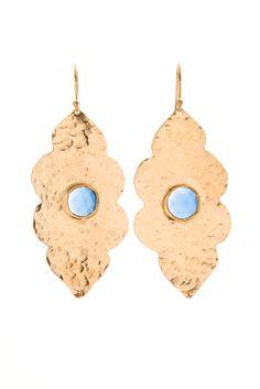 Tayla Blue Chalcedony earrings