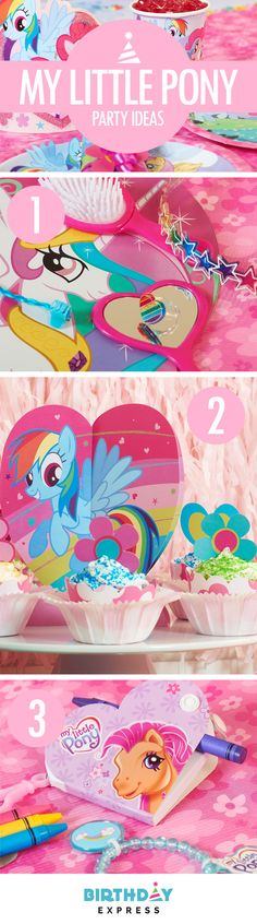 Pinkie Pie is never without her party cannon, you should never throw a party without BirthdayExpress.com. Learn more about our Top My Little Pony birthday party ideas: (1) Faux jewels, rings, mirrors and more make amazing and glamorous gifts for the guests (2) Let every child decorate their own cupcakes and treats with Rainbow Dashes of sprinkles! (3) My Little Pony party favors are a welcome addition to any party.