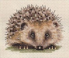 Cross Stitch Hedgehog 1 of 2.  I am not much of stitcher...but I LOVE this.
