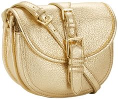 Buy save Isaac Mizrahi – Handbags Women's Marlene IM92026-000 Cross Body,Gold Leather,One Size.