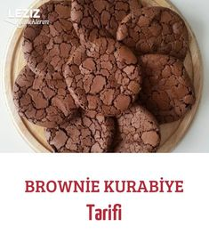 Brownie Kurabiye Tarifi How To Eat Ginger, Breakfast Tea, Mini Foods, Brownie, Dog Food Recipes, Almond, Food And Drink, Sweets, Cookies
