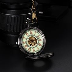 Keep time on your side with the this delicate #unisex #pocketwatch.Stunningly simple yet marvellously intricate,it has hollow out watch cover and transparent back and the watch dial is in hollow #skeleton designed with roman numerals hour markers, really a stylish pocket watch for daily wear.