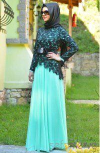 Sefamerve, Sefamerve Abiye Elbiseler PDY 3260-05 Mint Yeşili