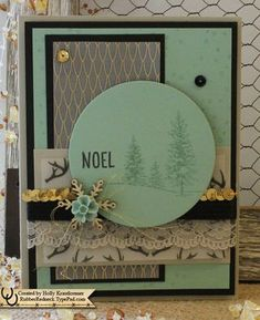 Stampin' Up! Christmas card in Mint Macaron