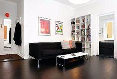 Dazzling Cozy Design Black And White Apartment Living Room Desain Idea