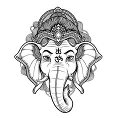Arte Ganesha, Lord Ganesha, Mandala Design, Mandala Art, Ganesh Tattoo, Hindu Tattoos, Symbol Tattoos, Ganesha Drawing, Ganesha Sketch
