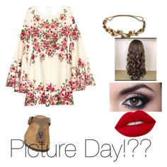 """""""Picture day! what to wear?!"""" by dannamurray on Polyvore featuring Birkenstock, Jennifer Behr and Lime Crime"""