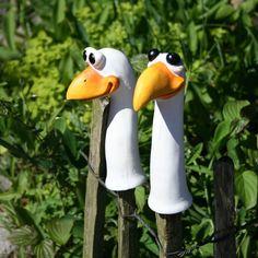 Zaunhocker lustige Vögel 2er Set,Zaungucker,Figuren,Zaunfigur,Zaundeko,NEU!! | eBay
