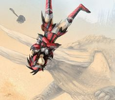 Monster Hunter Jhen battle
