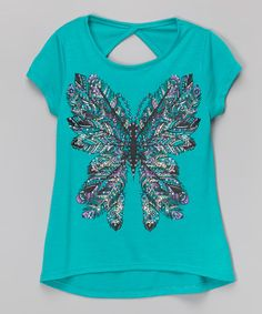 This Gulf Green Tribal Butterfly Tee by Beautees is perfect! #zulilyfinds