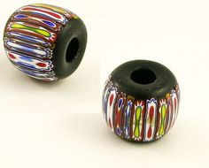 Vintage Murano Italian glass beads chevron von PiasGotSupplies