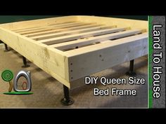 Queen Size Bed Frame DIY - YouTube