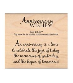 MSE My Sentiments Exactly Anniversary Wishes Mounted Stamp MSE Wood Mounted Stamp set is a Anniversary Card Sayings, Anniversary Greetings, Birthday Greetings, Anniversary Message, Birthday Wishes, Birthday Cards, Birthday Gifts, 11th Wedding Anniversary, Anniversary Funny