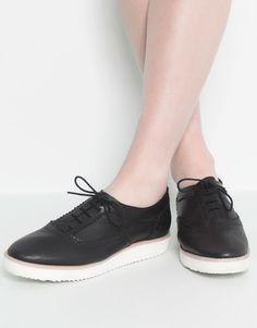 :BLUCHER PIEL BLOQUE pull and bear made in spain