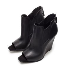 PEEP TOE WEDGE ANKLE BOOT - Shoes - TRF   ZARA United States
