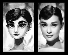 I'm a little rusty with this kind of drawings.  But here is a little study of Audrey Hepburn  I used Shiyoon Kim's brushes and some of mine custom ones.