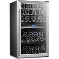 Wine Chiller - Wine Musts: The Tips You Must Understand Hotel Minibar, Beer Fridge, Wine Stains, Citrus Juicer, Wine Chiller, Stainless Steel Doors, White Led Lights, Beer Bar, Wire Shelving