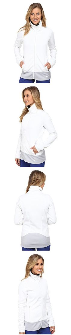 Coats and Jackets 181145: New Womens Nike Golf Thermal Full Zip Jacket White Size Large (L) 685284-121 -> BUY IT NOW ONLY: $44.99 on eBay!