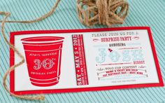 Solo Cup Birthday Ideas!  (This would be awesome for a 21st birthday theme!)