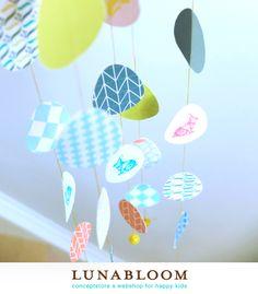 Lente-paasmobiel, eenvoudig zelf te maken - gratis te downloaden @Kinderkamerstylist #diy easter free download