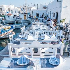A photo journey in Greece - Restaurant in Naoussa, Paros island, Greece by. Paros Greece, Santorini Greece, Athens Greece, Mykonos, Vacation Places, Honeymoon Destinations, Places To Travel, Places To Go, Greece Vacation