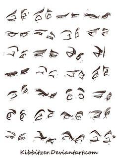 Eyes Reference Sheet by Kibbitzer.deviantart.com on @DeviantArt