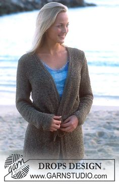 DROPS Cardigan in Passion Free knitting pattern by DROPS Design.