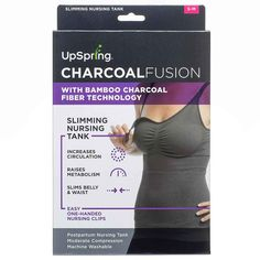 UpSpring Shrinkx Charcoal Fusion Compression Nursing Tank Top