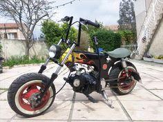 monkey, dax, APE, chaly, et autres minibécannes pour nains - Page 2 Bobber, Mini Chopper, Mini Bike, Cool Bikes, Harley Davidson, Honda, Ariel, Motorcycles, Gadgets