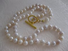 Pearls Pearl Necklace Fresh Water Pearls by JewelryMakerCharlene, $23.00