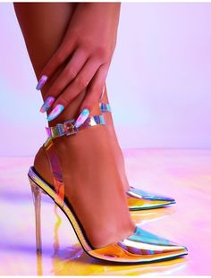Wavey feature an elegant pointed toe, iridescent perspex upper and clear perspex stiletto high heel. Black Stiletto Heels, High Heels Stilettos, Sexy Heels, Shoes Heels, Public Desire Shoes, Beautiful Heels, Comfortable Heels, Fashion Heels, Clear Perspex