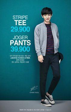 EXO and AOA photoshoot for fashion brand, 'SPAO'