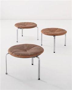 POUL KJÆRHOLM's  stools. Danish Furniture