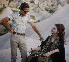 """Pier Paolo Pasolini, Maria Callas on the set of """"Medea"""" (1969)"""
