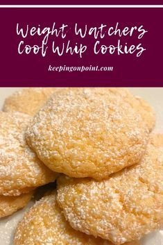 Cool Whip Cookies – Weight Watchers Weight Watchers Desserts, Weight Watchers Kuchen, Weight Watcher Cookies, Weight Watchers Meal Plans, Weigh Watchers, Weight Watchers Diet, Ww Desserts, Healthy Desserts, Diabetic Desserts