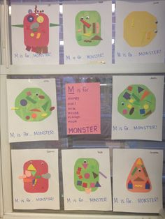 M is for... monsters! Letter of the week. Alphabet