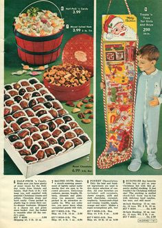 Aldens Christmas catalog 1972 Christmas stocking and chocolates