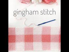 Crochet Pink Gingham Blanket | Daisy Farm Crafts