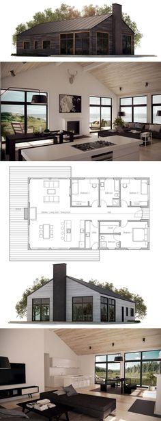 Husplan, Zero Energy Home, Zero Energy House Plan, Passive House plan. New House Plans, Modern House Plans, Small House Plans, Modern House Design, House Floor Plans, Simple Home Plans, Open Concept House Plans, Modular Home Plans, Simple Floor Plans