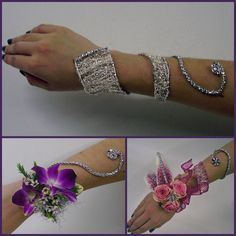 Prom Corsages Ideas | Wear low on the wrist with the end curling up the arm,