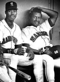Ken Griffey Sr. & Ken Griffey Jr., 1990.