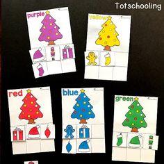 Christmas Color Sorting Printable Activity