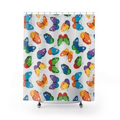 Butterfly Shower Curtain Beautiful Shower Curtain For Women Etsy