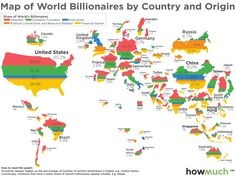 This Map Shows Where the World's Billionaires Got Their Money