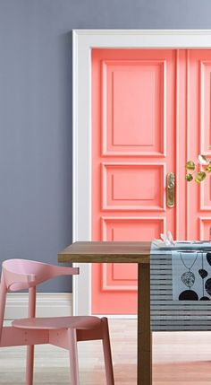 Fill your home with filtered hues and soft shades of coral. Bring in subtle, shimmering metallics as accent pieces that can add a flash of excitement and finish off the room with dreamy shades of blue. See all the Valspar 2015 Color Trends Pared Color Salmon, 2015 Color Trends, Live Coral, Home And Deco, Color Of The Year, Pop Of Color, My New Room, Pantone Color, Contemporary Dining Rooms