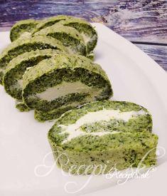 Táto slaná roláda je nielej výborná ale aj mimoriadne pekná na pohľad svojou kombináciou sýto zelenej farby s bielou. Jej príprava je nenáročná a celkom bez váženia, postačí vám 1 hrnček s objemom 250ml. Na cesto potrebujete: 3 vajíčka1 šálka hl. múky1 šálka špenátu (mrazený)1čl prášku do pečiva2 PL kyslej smotanysoľ, čierne korenie Na plnku potrebujete: 250g jemného krémovitého syru (napr. Lučina)1-2 strúčiky cesnaku/postrúhaného chrenu2 PL kyslej smotanysoľ, čierne korenie Post Avocado Toast, Breakfast, Ale, Food, Basket, Lemon, Morning Coffee, Ale Beer, Essen