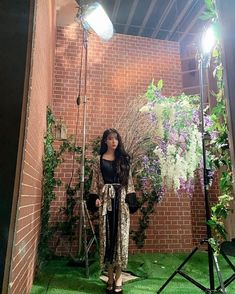 Image may contain: one or more people, plant and outdoor Iu Hair, Luna Fashion, When Life Gets Hard, Korean Words Learning, Girl Celebrities, Korean Fashion Trends, Pretty Men, Celebrity Outfits, K Idols