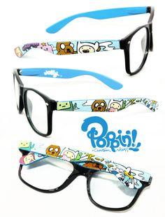 Adventure Time Glasses by ~PoppinCustomArt on deviantART