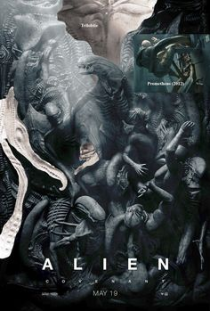 Alien: Covenant movie news, trailer, cast and plot info. The sequel to Prometheus directed once again by filmmaker Ridley Scott, Alien: Covenant stars Michael Fassbender and Noomi Rapace. Alien Vs Predator, Alien Convenant, Alien 2017, Alien 1979, Giger Alien, Hr Giger, Les Aliens, Aliens Movie, New Movies
